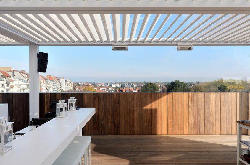 Pergola Ombra, wyposażona w lamelowy dach